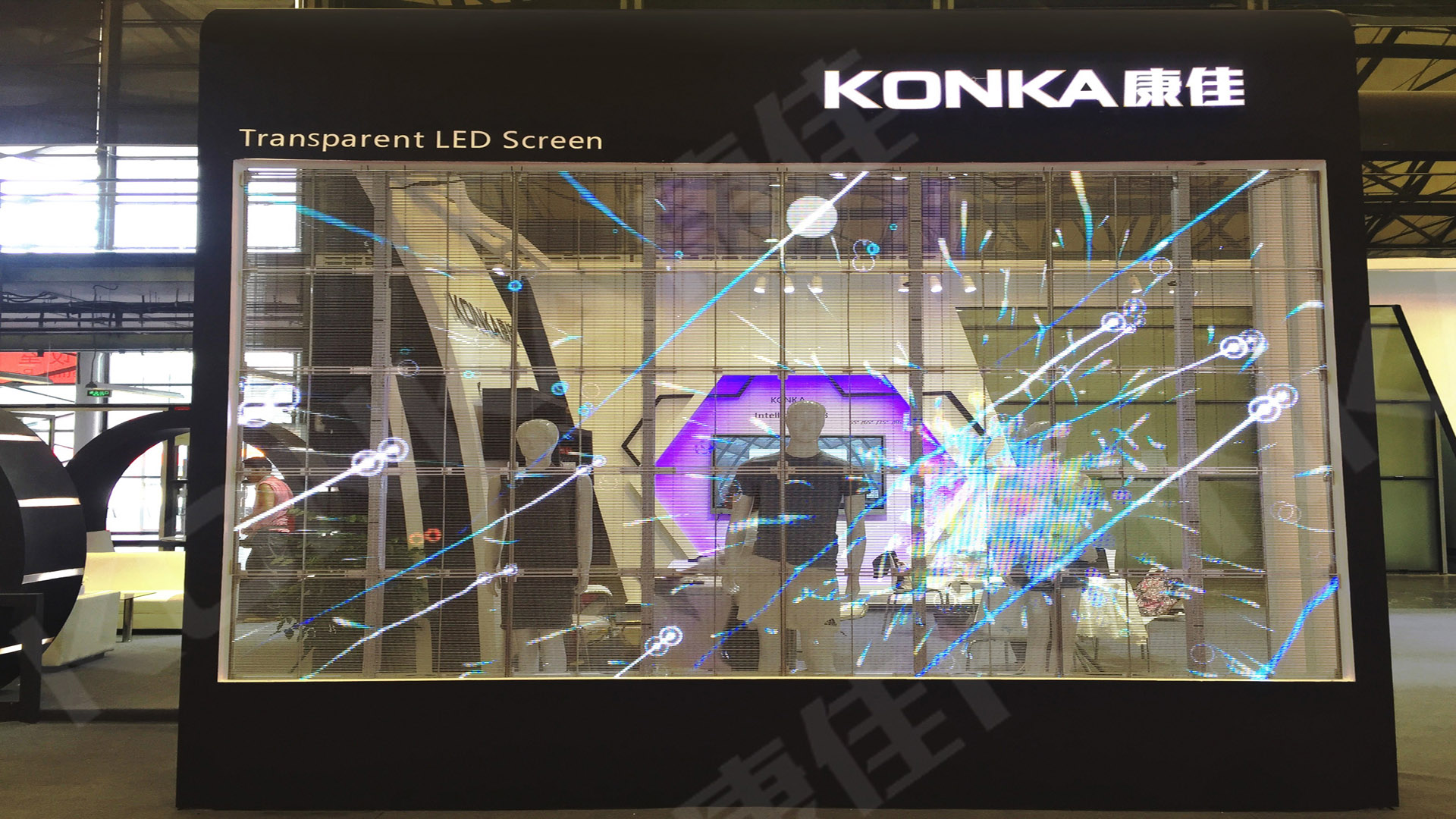 <span>Transparent screen at LED CHINA</span>